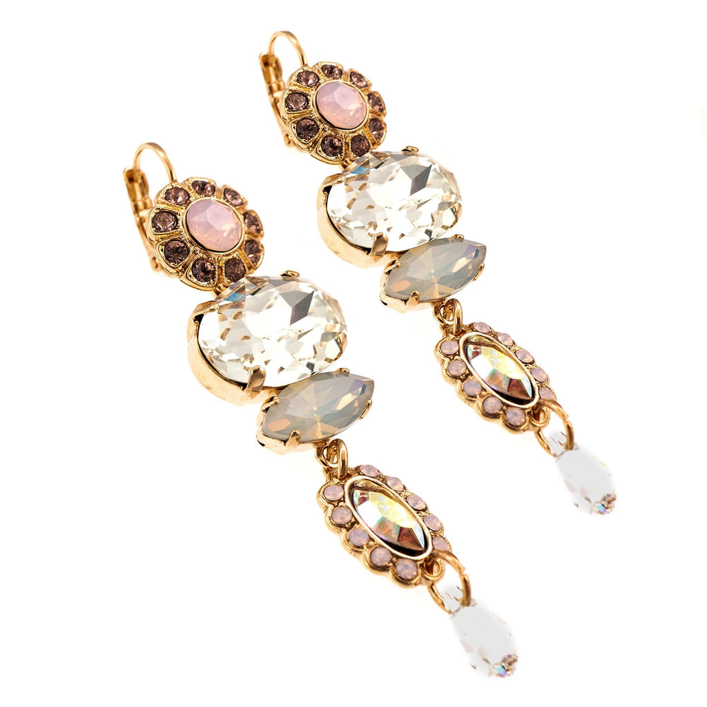 Aura  Collection Rose Gold Plated Earrings-1076-1112RG6