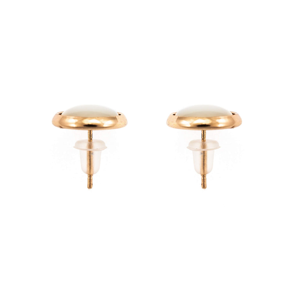Natural Stones Collection Rose Gold Plated Earrings-1110-M87RG2
