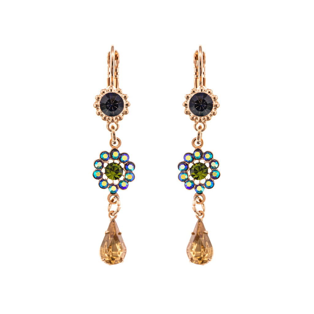 Mariana Rose Gold Plated Earrings | Roxanne's Jewellery | 1089RG6