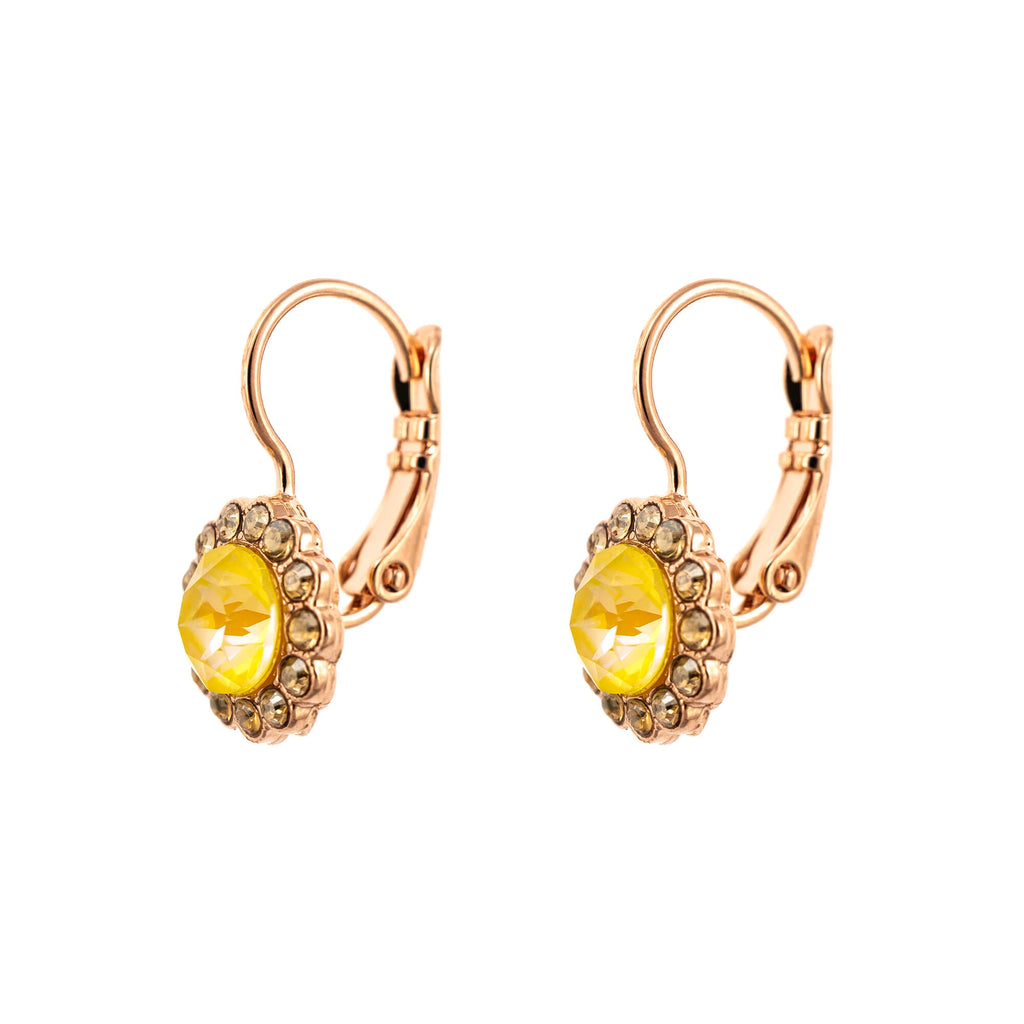 Lemon Emigrant  Collection Rose Gold Plated Earrings-1133-1121RG6