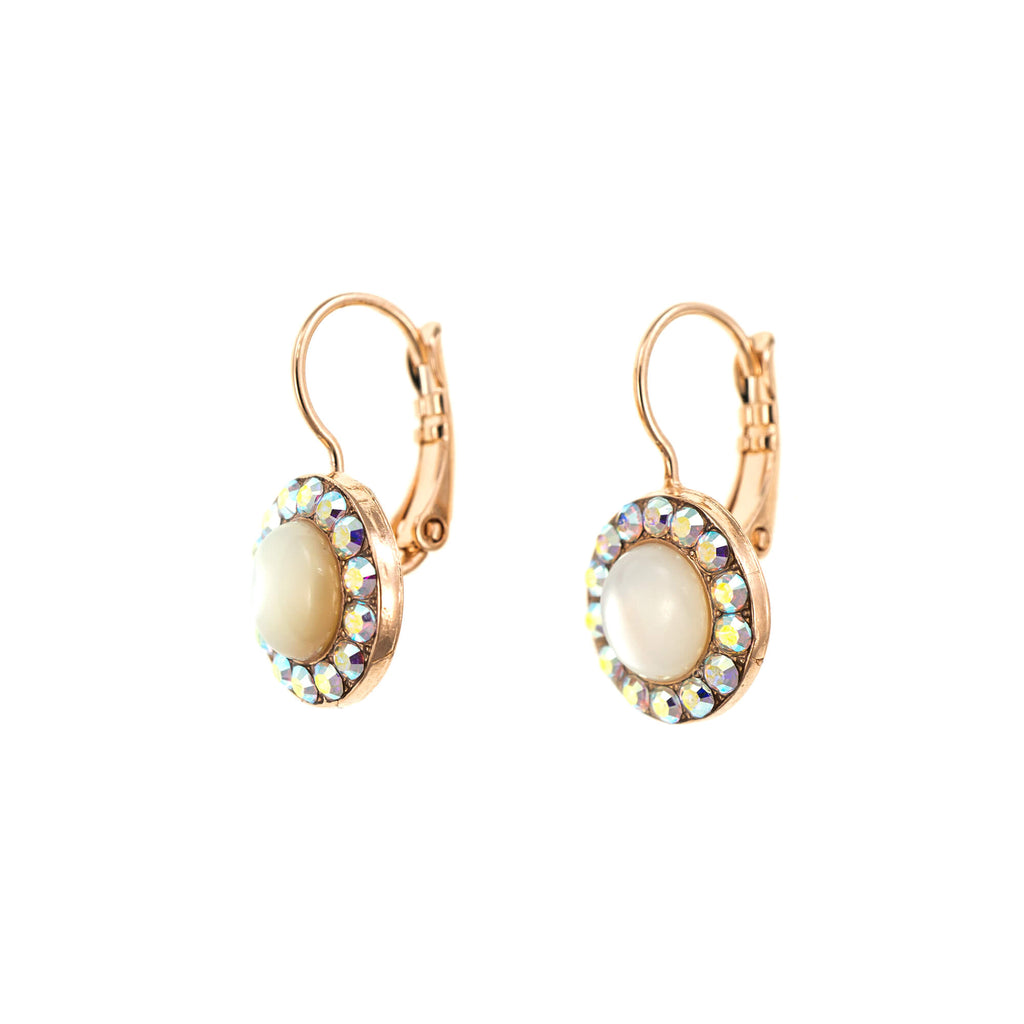 Seashell Collection Rose Gold Plated Earrings-1129-M1201RG6