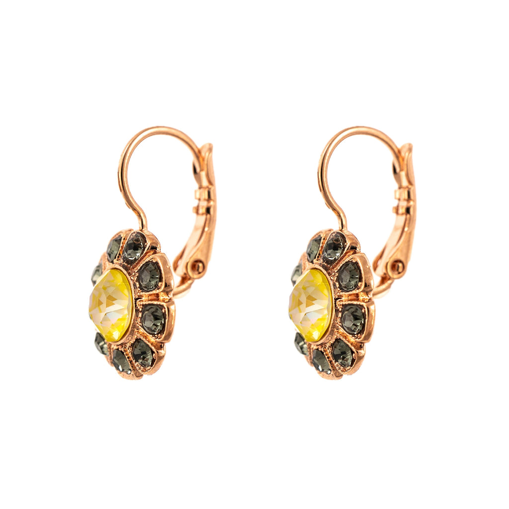 Lemon Emigrant  Collection Rose Gold Plated Earrings-1131-1121RG6