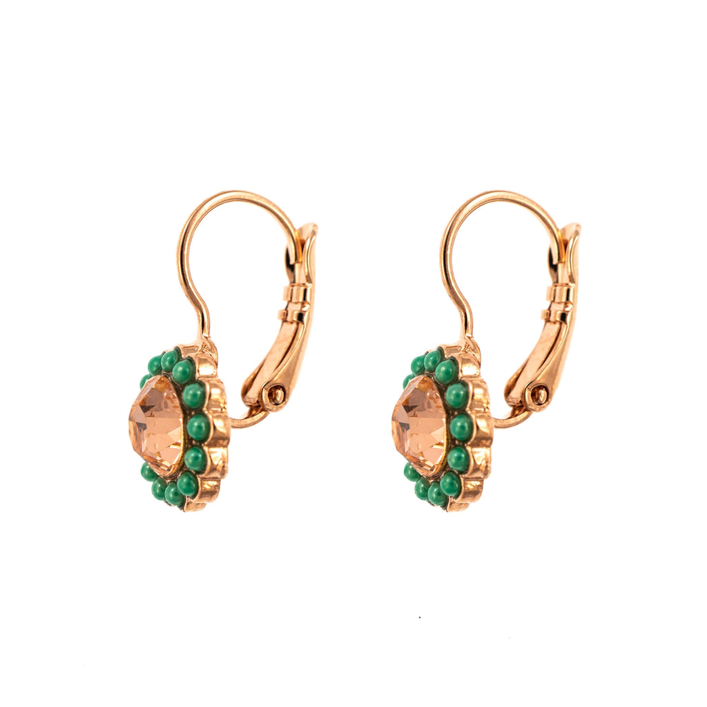 Painted Lady Collection Rose Gold Plated Earrings-1133-1120RG6