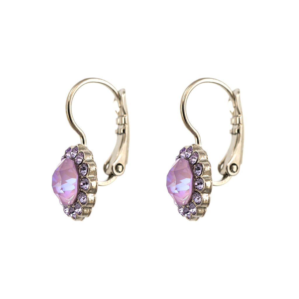 Lavender Collection Rhodium Plated Earrings-1133-1910RO6