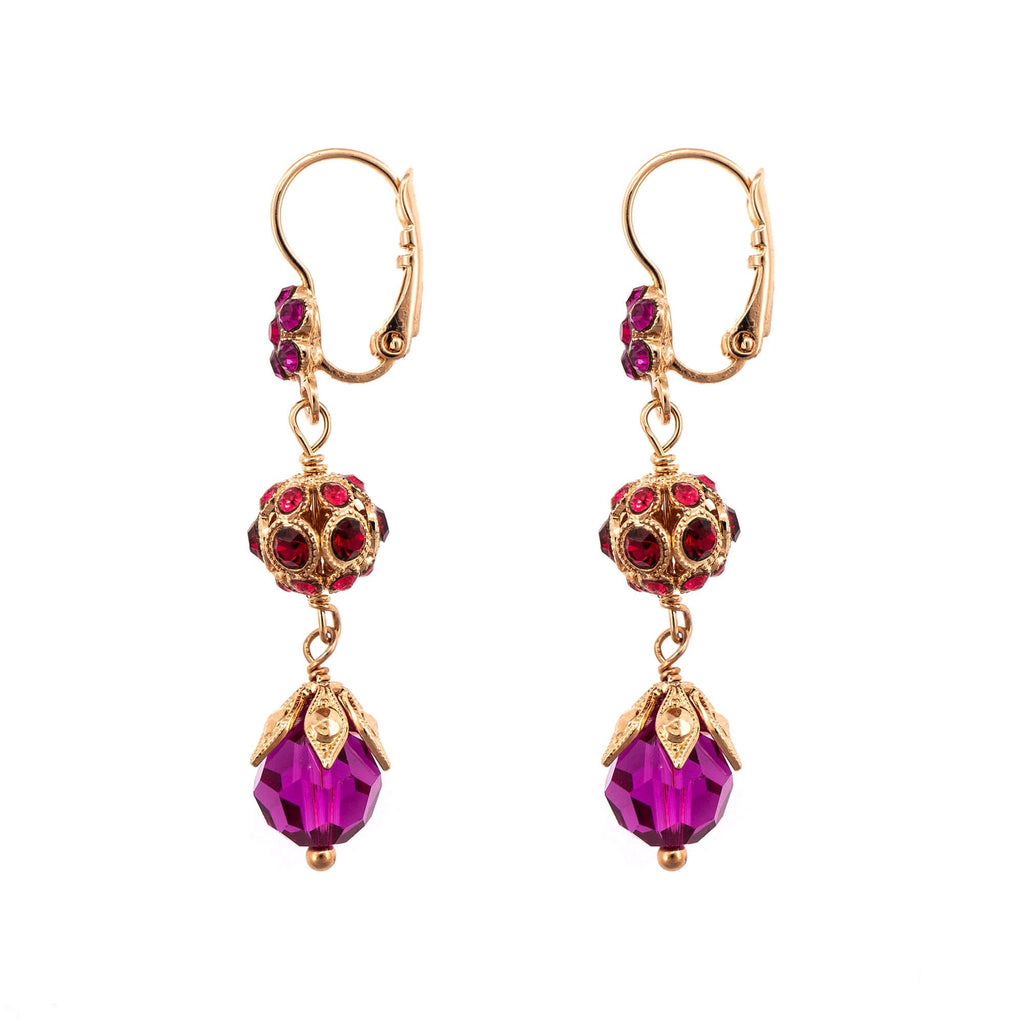 FireFly Collection Rose Gold Plated Earrings-1134-2140RG6