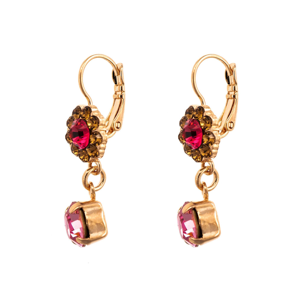 Twilight Collection Rose Gold Plated Earrings-1153-1115RG6