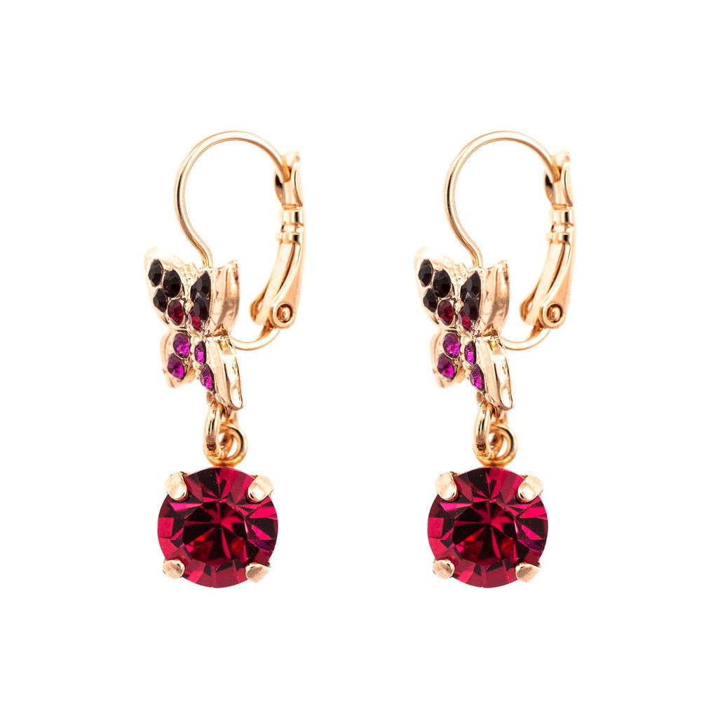 FireFly Collection Rose Gold Plated Earrings-1154-2140RG6