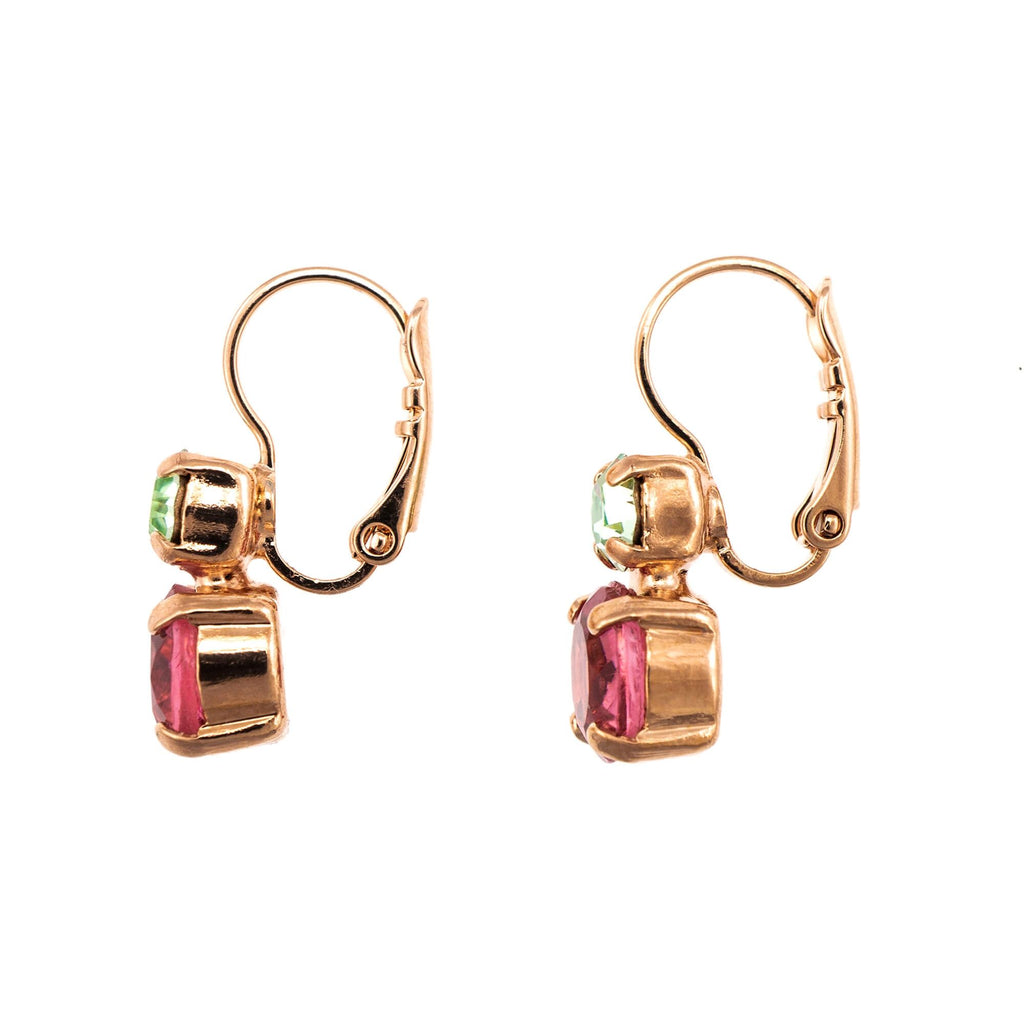 Spring Flowers Collection Rose Gold Plated Earrings-1190-2141RG6