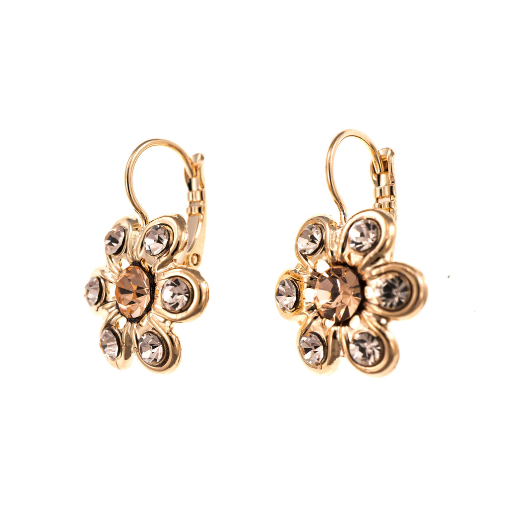 Jackie Collection Rose Gold Plated Earrings-1195-39132RG6