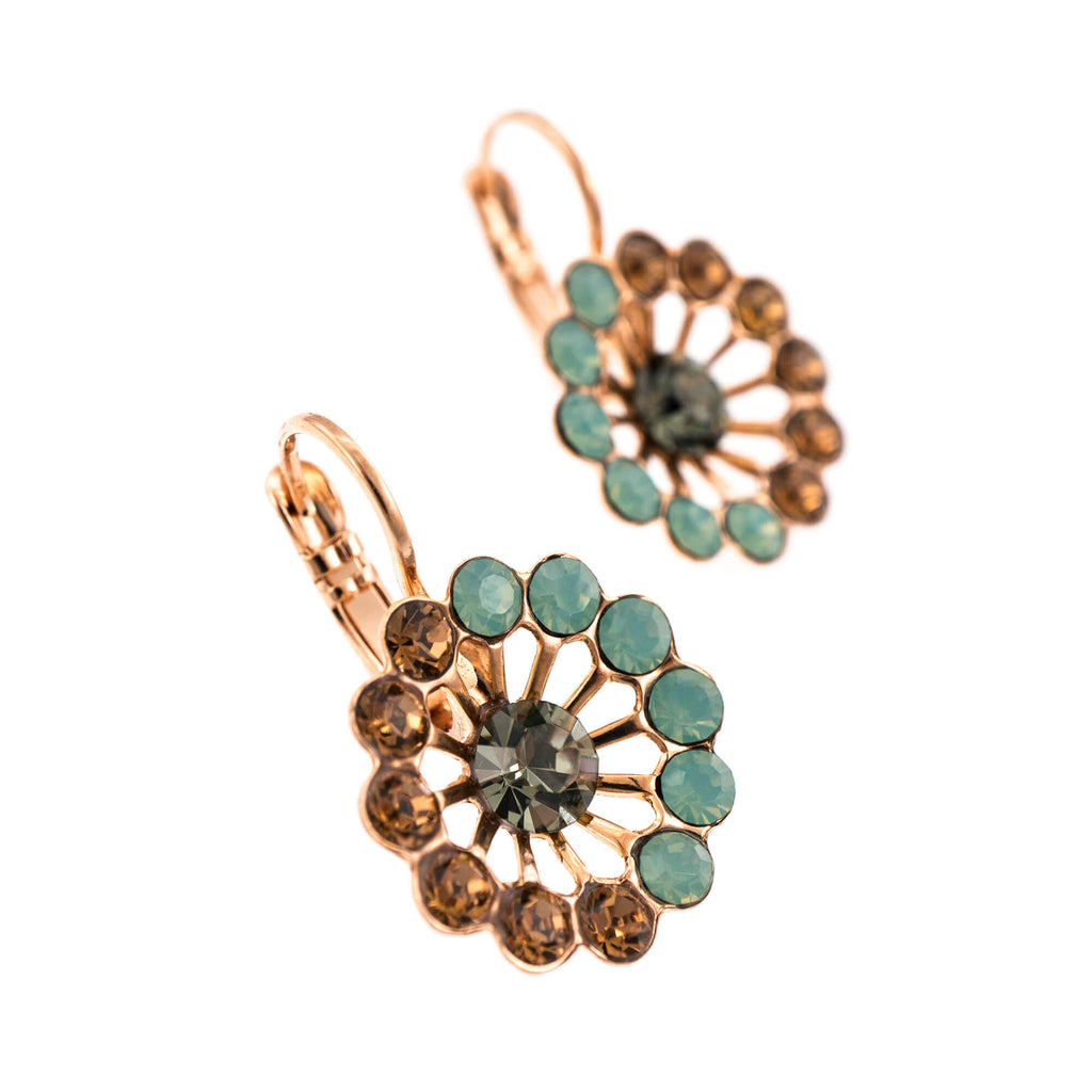 Forget-me-not Collection Rose Gold Plated Earrings-1195/1-1329RG6