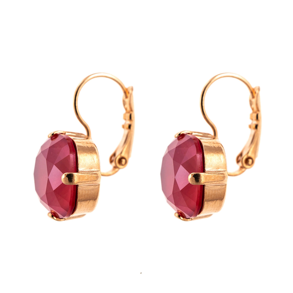 Lady In Red Collection Rose Gold Plated Earrings-1326/4-250RG6