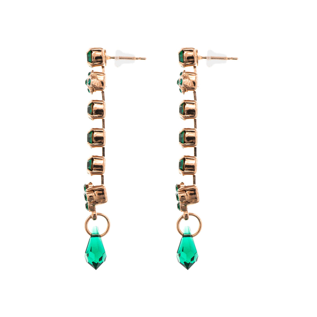 Emerald Collection Rose Gold Plated Earrings-1408-205205RG2
