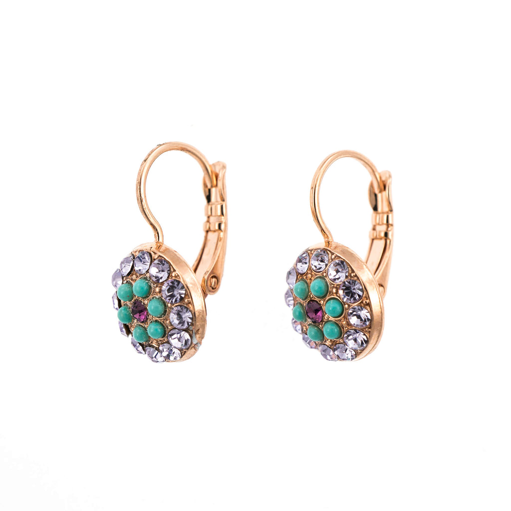 St. Lucia-Caribbean Life Collection Rose Gold Plated Earrings-1416-1107RG6