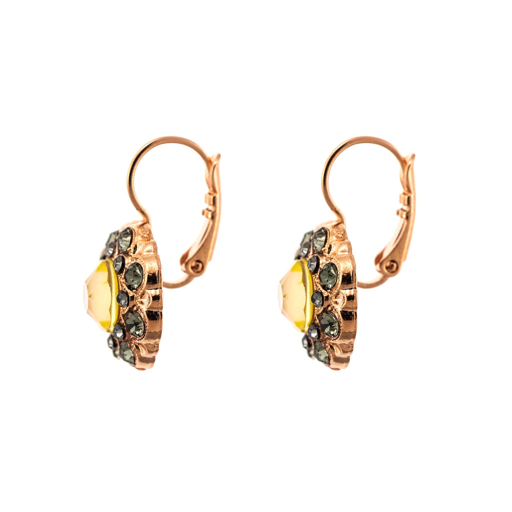 Lemon Emigrant  Collection Rose Gold Plated Earrings-1417-1121RG6