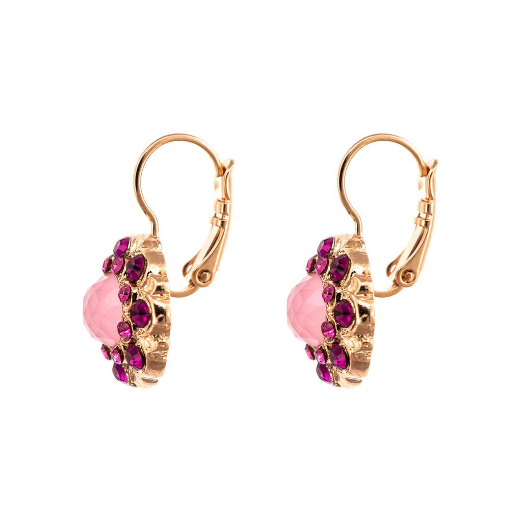 Camelia Collection Rose Gold Plated Earrings-1417M-5022RG6