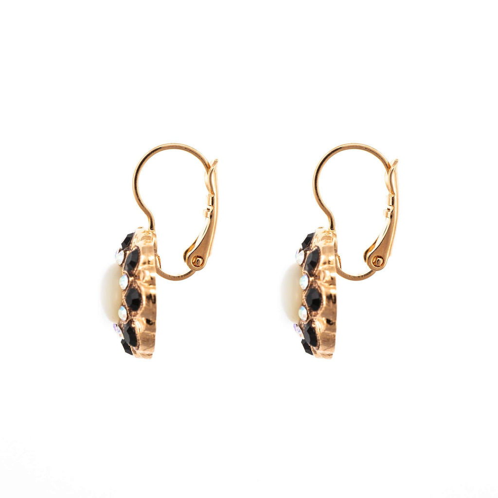 Aurore in Black Collection Rose Gold Plated Earrings-1417M-87280RG6