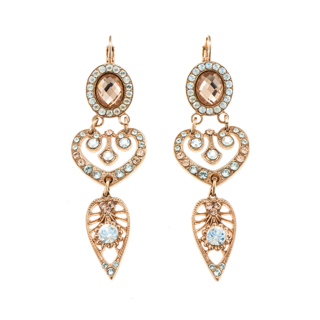 Mariana Rose Gold Plated Earrings | Roxanne's Jewellery | MOL361RG6