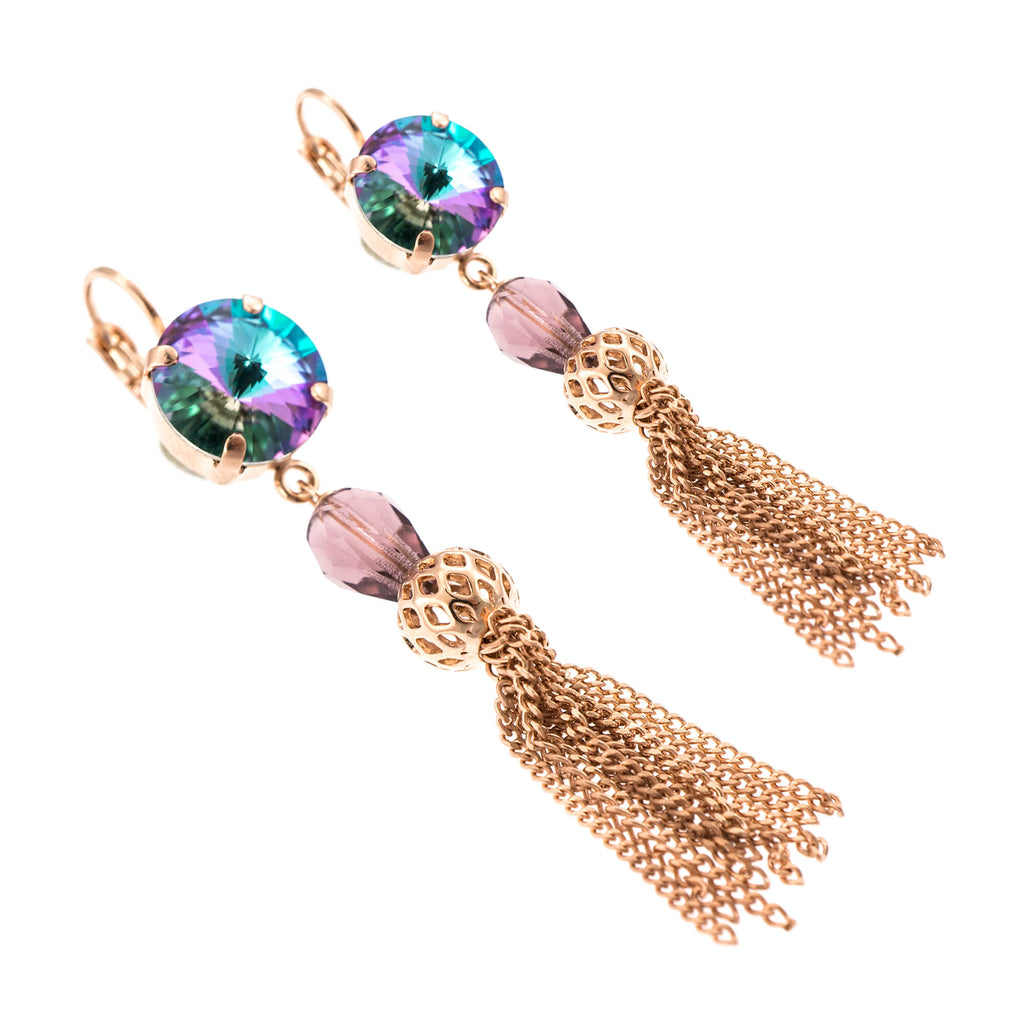 St. Lucia-Caribbean Life Collection Rose Gold Plated Earrings-1423/5-1107RG6