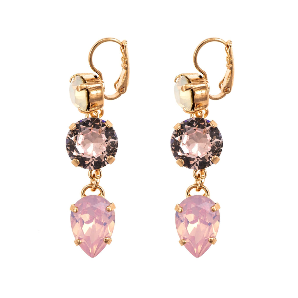 Aura  Collection Rose Gold Plated Earrings-1440/3-1112RG6