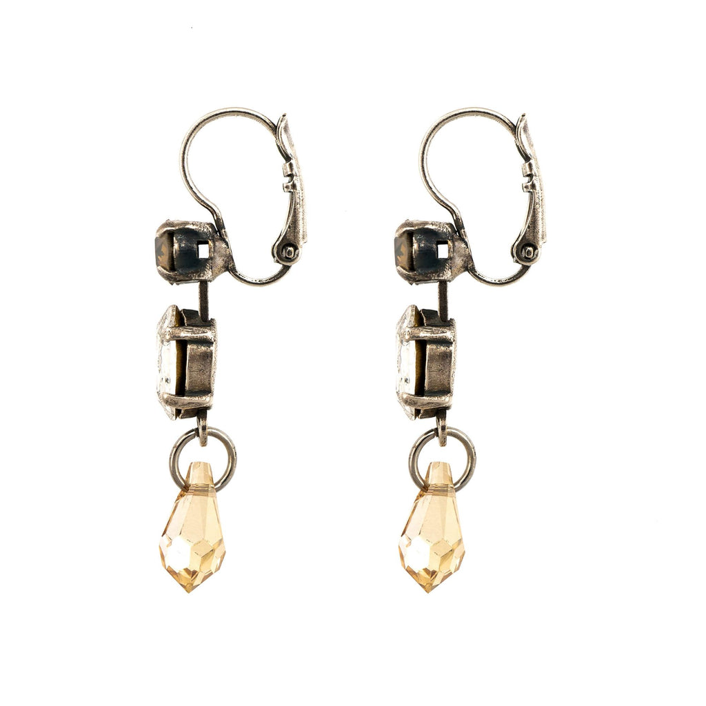 Champagne and Caviar Collection Silver Plated Earrings-1514/1-391100SP6