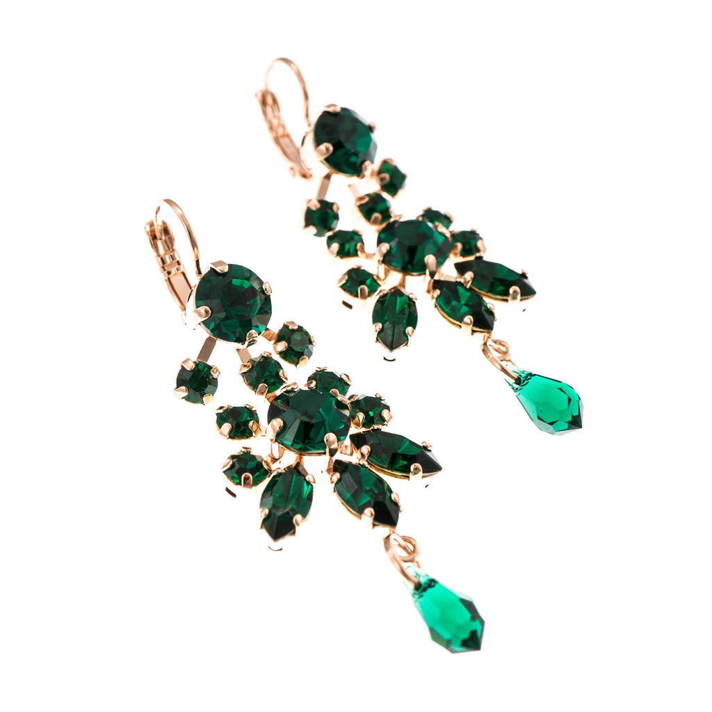 Emerald Collection Rose Gold Plated Earrings-1529-205205RG6