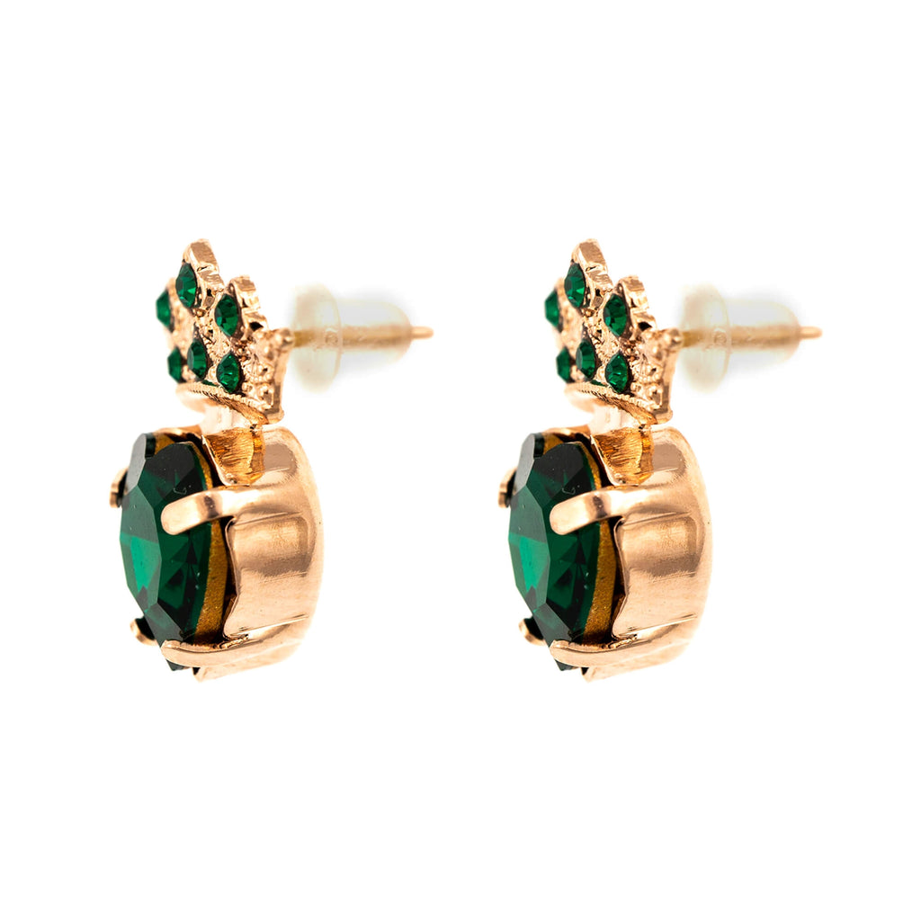 Emerald Collection Rose Gold Plated Earrings-1543-205205RG2