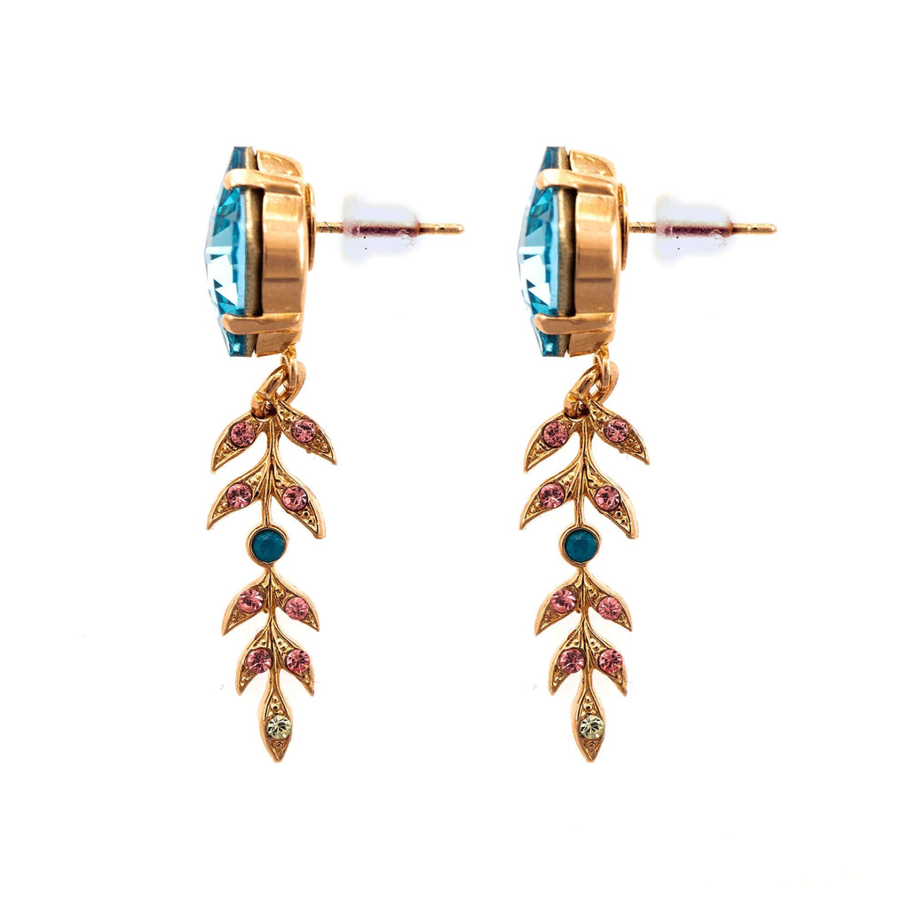 Spring Flowers Collection Rose Gold Plated Earrings-1628-2141RG2