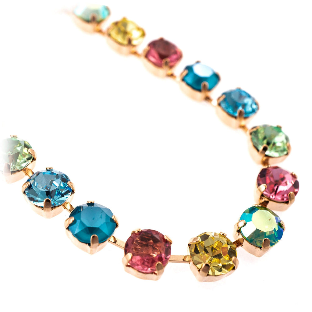 Spring Flowers Collection Rose Gold Plated Necklace-3252-2141RG