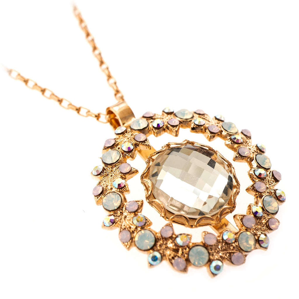 Aura Collection Rose Gold Plated Pendant Necklace-5040/5-1112RG