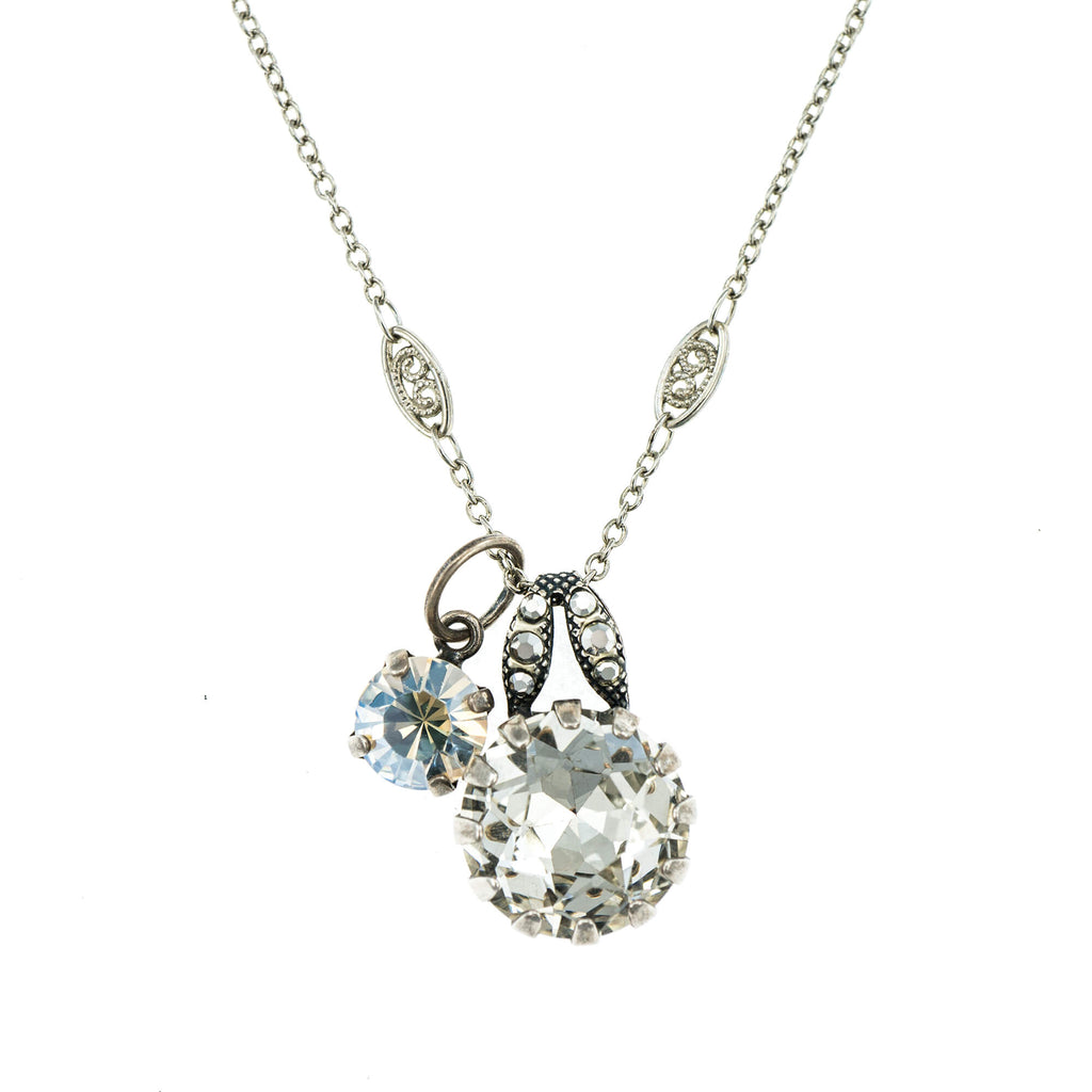 Mariana Silver Plated Pendant Necklace | Roxanne's Jewellery | 1328SP