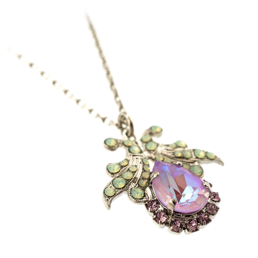 Lavender Collection Rhodium Plated Pendant Necklace-5184-1910RO