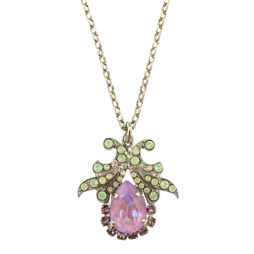 Mariana Rhodium Plated Pendant Necklace | Roxanne's Jewellery | 1910RO