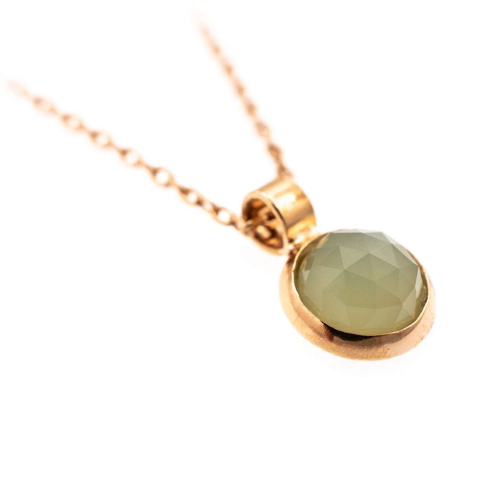 Natural Stones Collection Rose Gold Plated Pendant Necklace-5208-M62RG