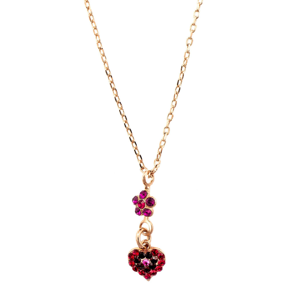 Mariana Rose Gold Plated Pendant Necklace | Roxanne's Jewellery | 2140RG