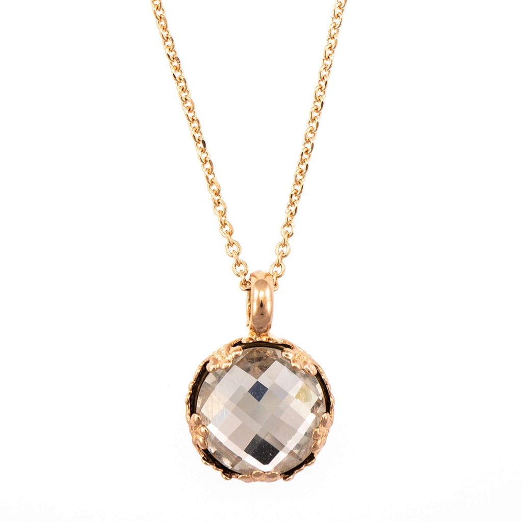 Mariana Rose Gold Plated Pendant Necklace | Roxanne's Jewellery | 001ARG