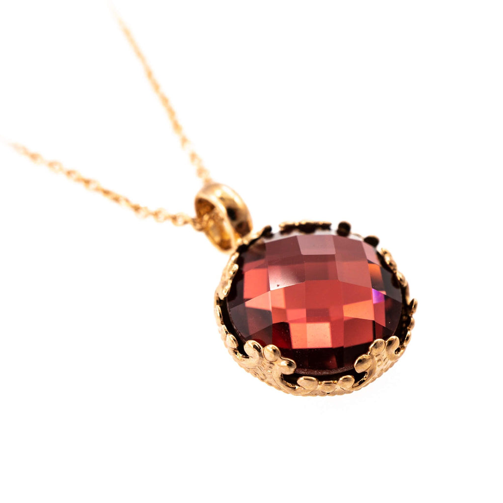 Lady In Red Collection Rose Gold Plated Pendant Necklace-5323/2-515ARG