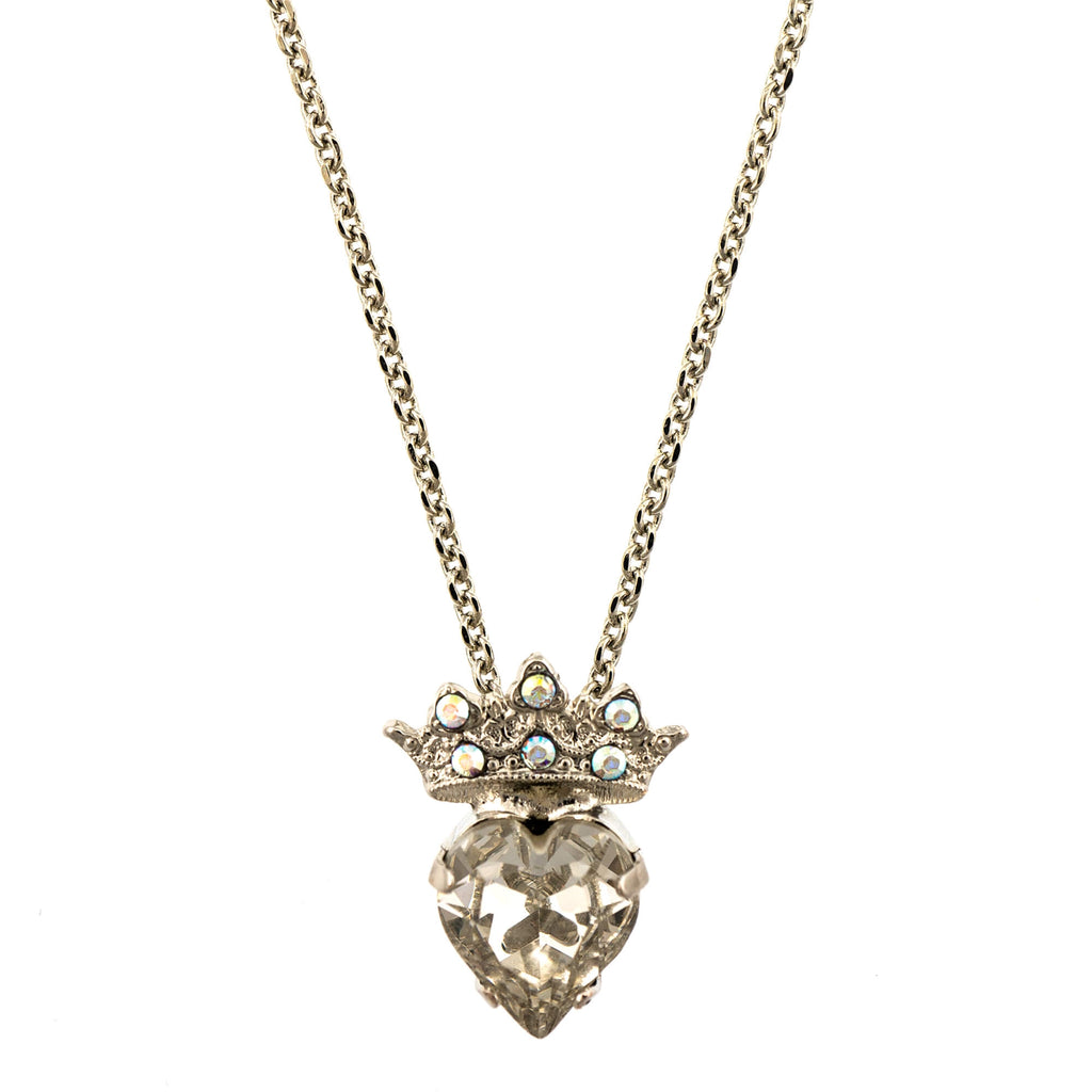 Mariana Rhodium Plated Pendant Necklace | Roxanne's Jewellery | 001RO