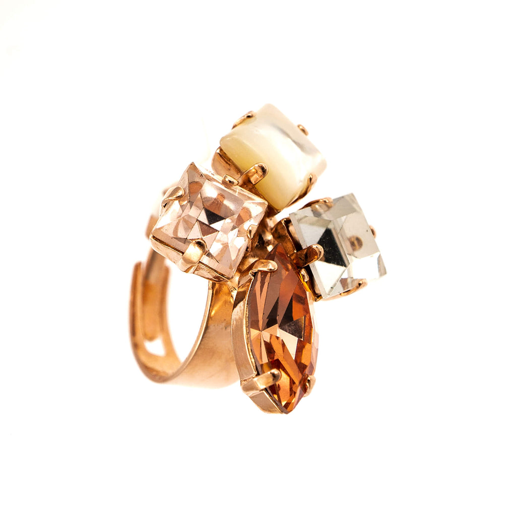 Mariana Rose Gold Plated Ring | Roxanne's Jewellery | M1913RG