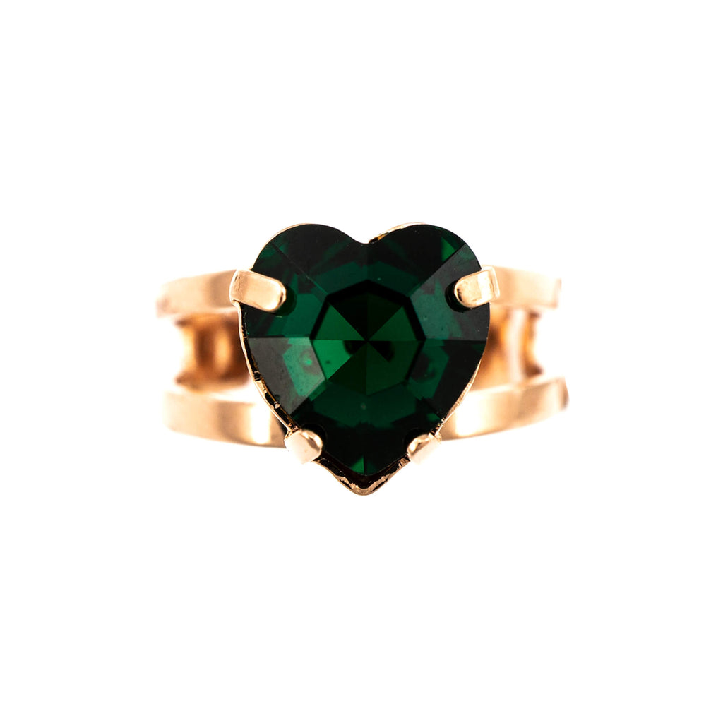 Emerald Collection Rose Gold Plated Ring-7100/2-205RG