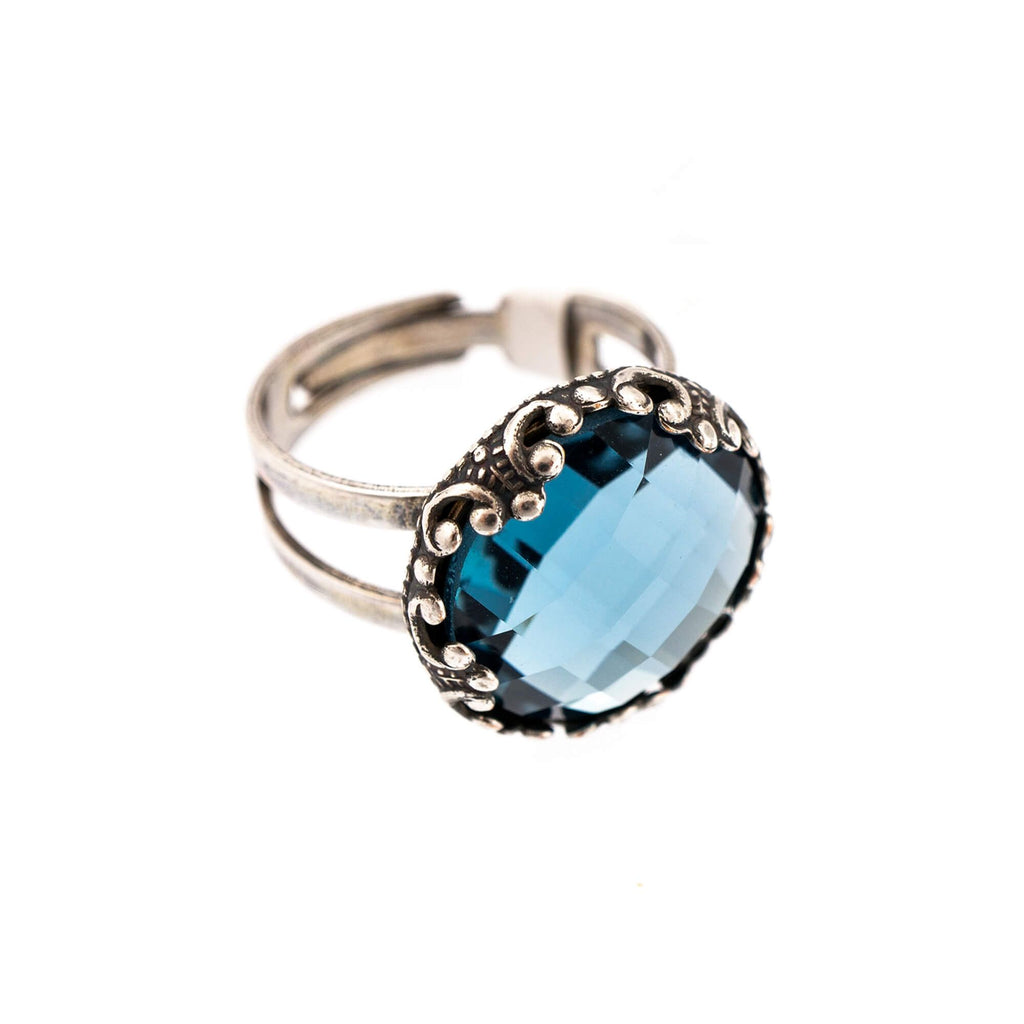 Mariana Silver Plated Ring | Roxanne's Jewellery | 266ASP