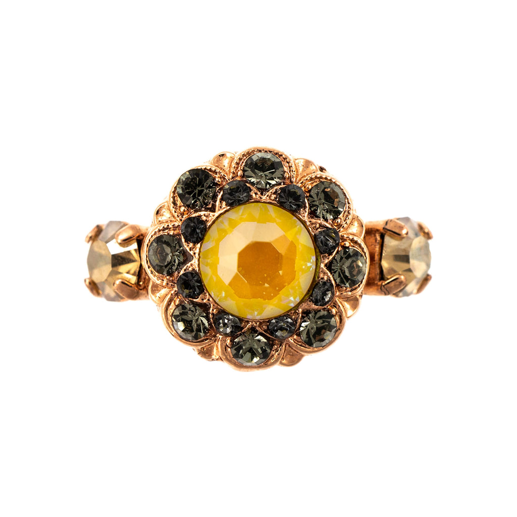 Lemon Emigrant Collection Rose Gold Plated Ring-7417-1121RG