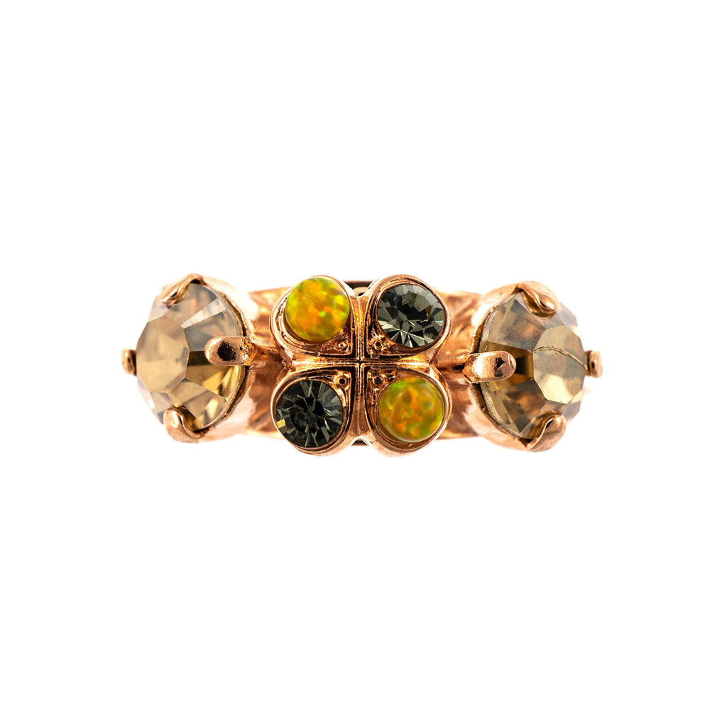 Lemon Emigrant Collection Rose Gold Plated Ring-7535-1121RG