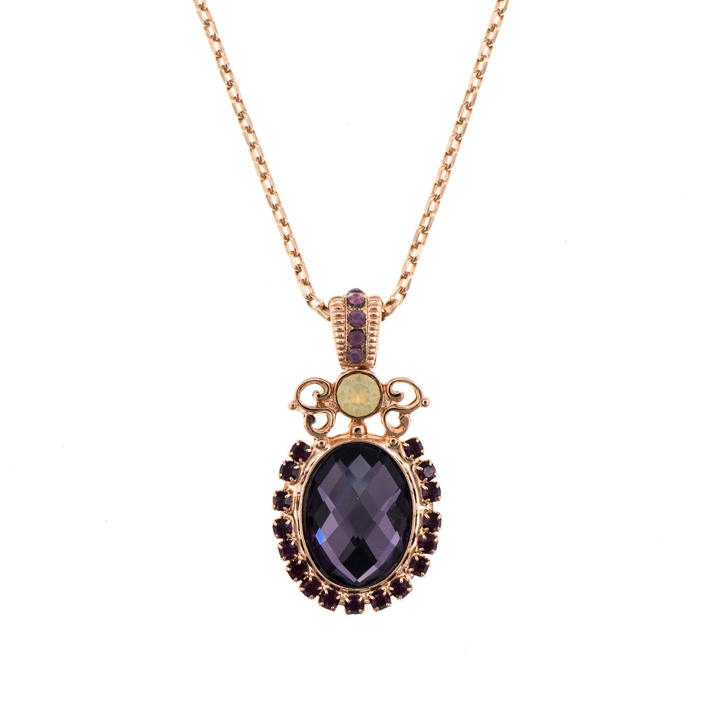 Mariana Rose Gold Plated Pendant Necklace | Roxanne's Jewellery | 1072RG