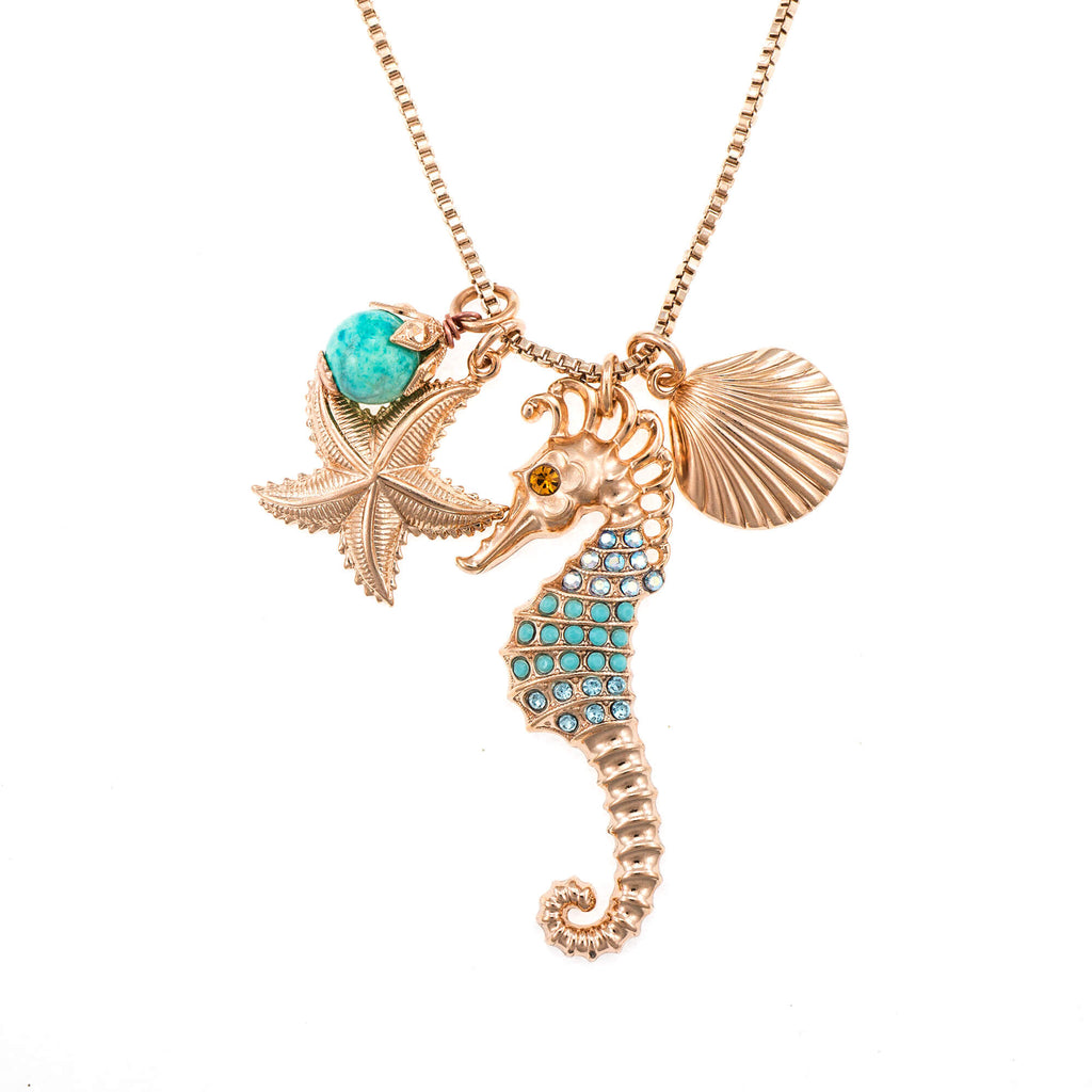 Mariana Rose Gold Plated Pendant Necklace | Roxanne's Jewellery | 2672RG