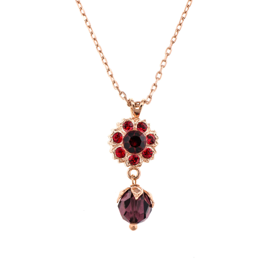 Mariana Rose Gold Plated Pendant Necklace | Roxanne's Jewellery | 1070RG