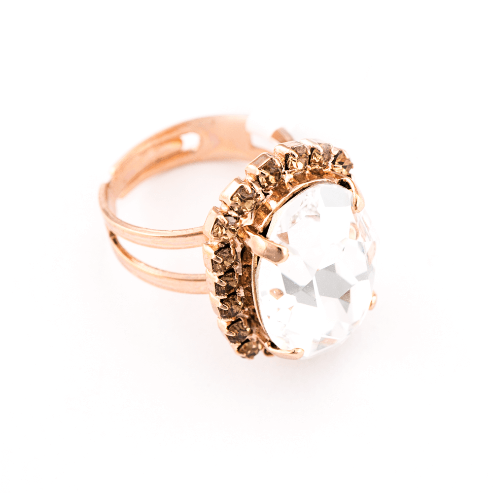 Mariana Rose Gold Plated Ring | Roxanne's Jewellery | 391100RG