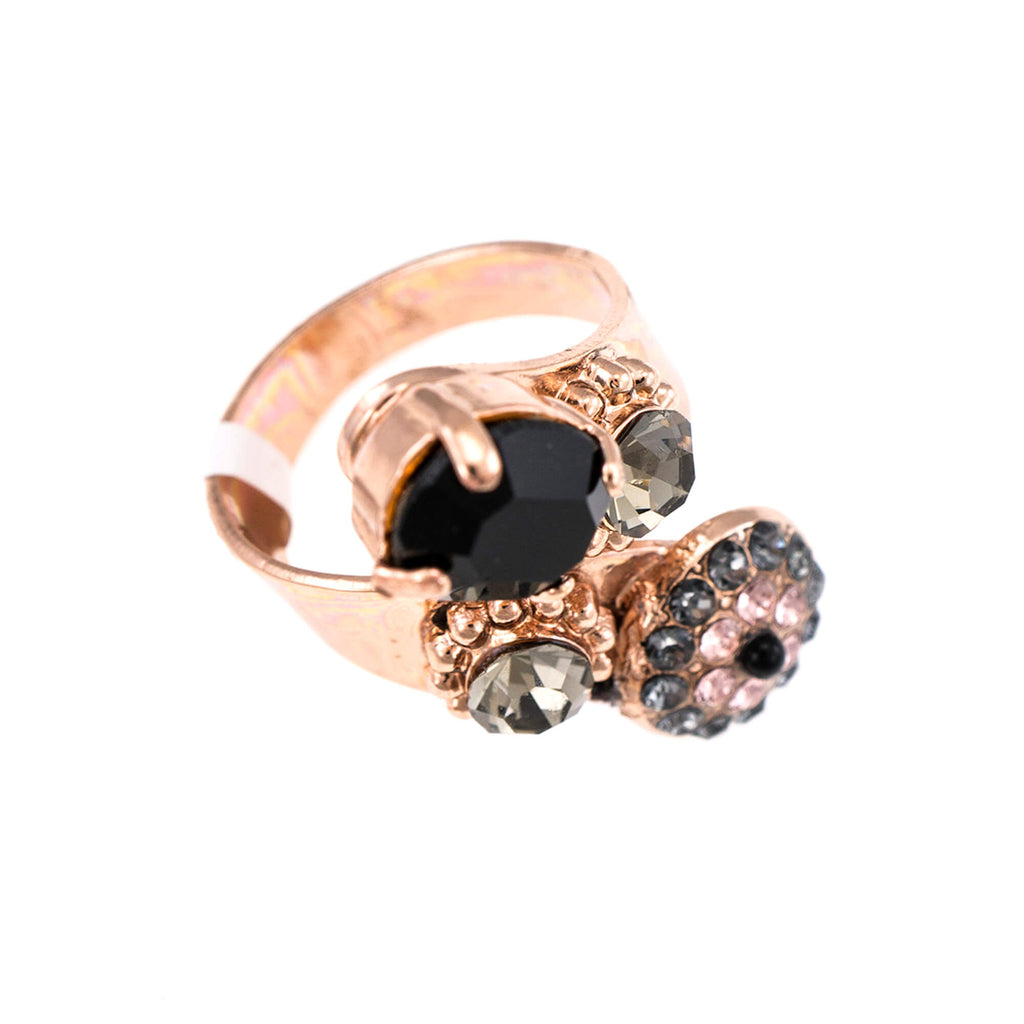 Black Velvet Collection Rose Gold Plated Ring-7416-1073RG