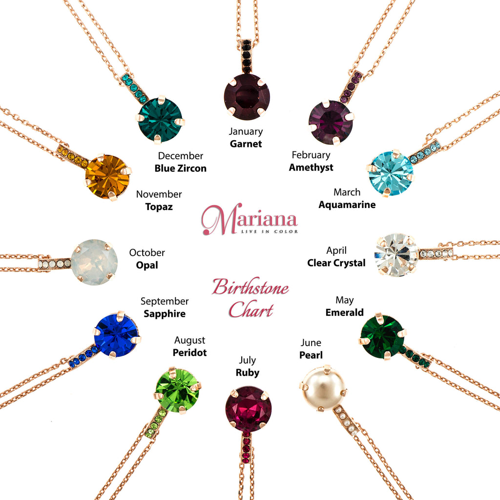 Lucky Birthstone-The Color of Your Life Collection Rose Gold Plated Pendant Necklace-5056-205205RG