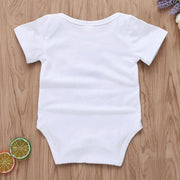 """Going fishing with Daddy"" Cartoon Letter Printed Baby Romper"