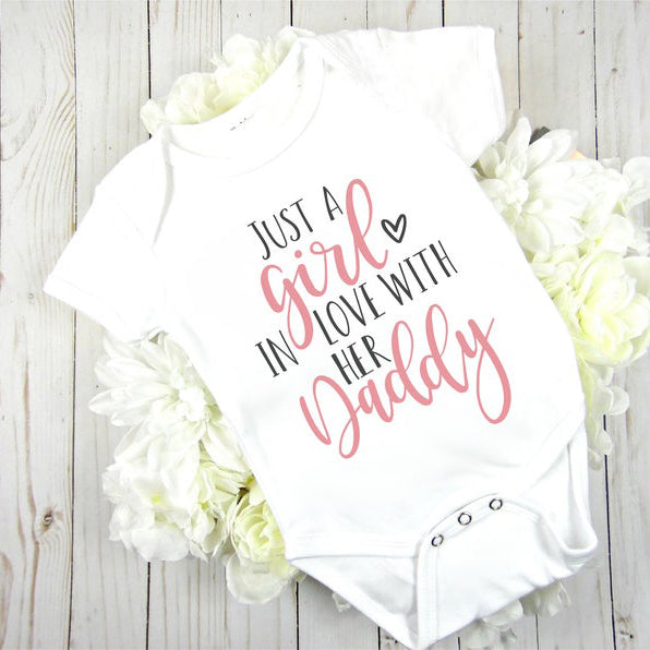 Just A Girl In Love With Her Daddy Baby Romper